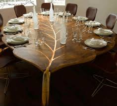 halloween greeting severed head table top   Dining table, wooden ...