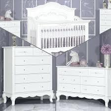 Crib Bedroom Set Aurora 3 Piece Nursery Set In Frost White Pearl ...
