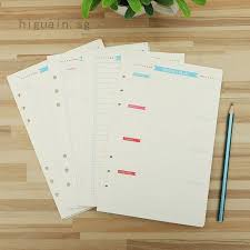 <b>40 Sheets A5 A6</b> Colorful Notebook Refills Notebook Inner Pages ...