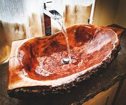 Sj collection elmira 36 in. Wooden Log Bathroom Sink