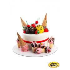 66 Ice Cream Theme Kids Birthday Cake Kids Birthday Special