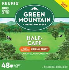 Scrutiny aside, coffee manufactures continue to distill new coffee capsules; Green Mountain Coffee Half Caff Medium Roast Coffee K Cup Pods Value Pack 48 Ct Ralphs