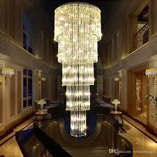 crystal chandeliers lighting fixture led modern chandelier hotel cafes pub home indoor lighting luxury long crystal droplights d50cm 80cm pink chandelier