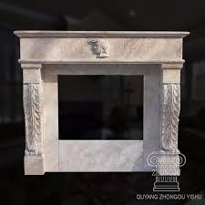 china old world hand carved marble fireplace mantel with head portrait in white travertine china fireplace marble fireplace