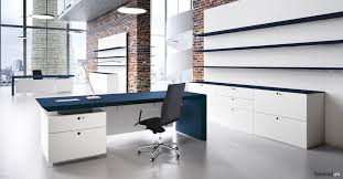 fantoni office furniture. CEO Blue Leather Desk Fantoni Office Furniture