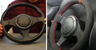 better days and was due for leather repair or a rewrap cover i found an affordable japanese suede steering wheel wrap with red stitching and decided to