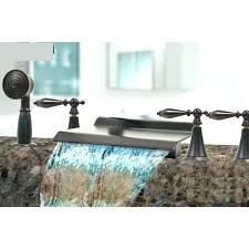 lovely bronze waterfall bathroom faucet faucet oil rubbed bronze waterfall tub faucet