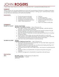 restaurant resumes waiter sample resume objective waitress samples examples serving