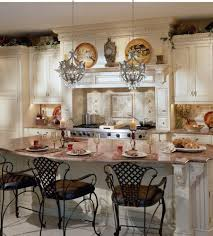 fabulous kitchen island chandeliers with oval shaped bar stools design using brown granite countertop plus black