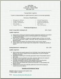 Transportation Logistics Resume Occupational Examples Samples