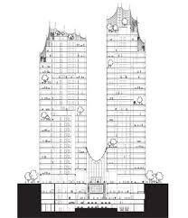 architectural drawings of skyscrapers. An Early Architectural Diagram Of The Mixed-used Skyscraper Drawings Skyscrapers