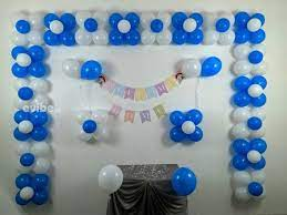 decoration with balloons and ribbons