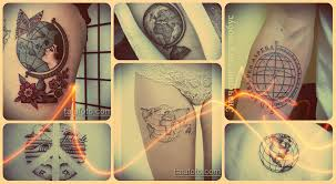 значение тату глобус смысл история фото эскизы для тату рисунков
