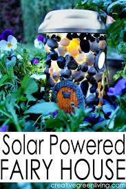 how to make a diy fairy garden house with a garden light to make it solar