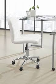 office desk stylish white leather armless office chair uk