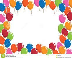 birthday balloons border landscape. Simple Balloons Balloon Frame On Birthday Balloons Border Landscape