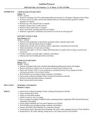 Sample Grill Cook Resume Kitchen Cook Resume Samples Velvet Jobs