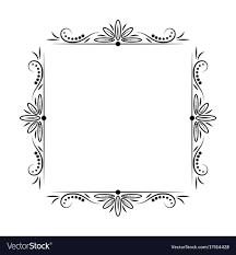 Modern stylish vintage black frame Royalty Free Vector Image