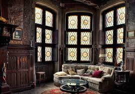 ... Home Decor, Antique Mansion Room Design Oldtime Interior Ceramic Floor  Round Carpet Gothic Home Decor ...