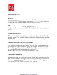 Printable Commercial Lease Agreement Template Simple Rental Florida ...