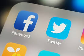 Image result for Facebook and twitter symbol
