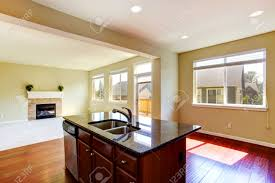 Kitchen Islands With Granite Top Modern Kitchen Island With Granite Top And Built In Sink In Empty