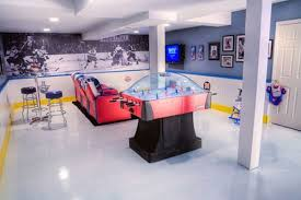sport corner man cave decor. 5-hockey-man-cave-upper-corner-hockey Sport Corner Man Cave Decor