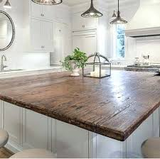 diy wood countertop countertops ikea reclaimed kitchen wooden ideas