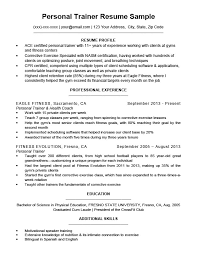 Personal Trainer Resume Cool Personal Trainer Resume Sample Writing Tips Resume Companion