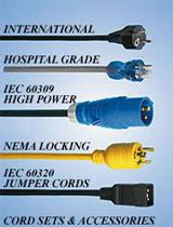 International Configurations Cordsets Cord Set Detachable