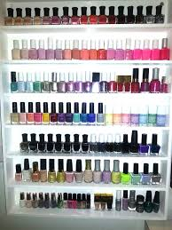 ... Wall Nail Polish Rack Target Ideas: Breathtaking Nail Polish Rack  Design ...