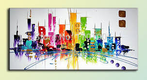 best office wall art. M0013 Abstract Landscape Painting Handmade Home Decoration Art Canvas Wall Office Best Gift