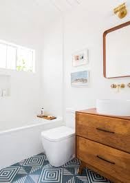 Kids Bathroom Tile Guest Bathroom Reveal Emily Henderson
