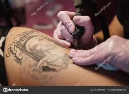 Female Tattoo Master Tattooing Female Client Figure Nuns On The