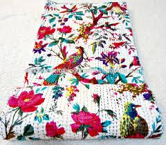 All New Cotton Fabric Kantha Work Quilt Blanket   Made In India ... & All New Cotton Fabric Kantha Work Quilt Blanket   Made In India Adamdwight.com