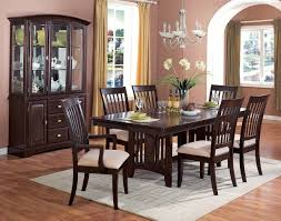Dining Room Wall Decor With Mirror Brown Wood Cabinest Wood Legs - Mirrors for dining room walls
