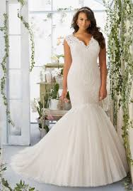 morilee bridal embroidered appliqu s on tulle mermaid wedding