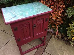 professional furniture paintingAntique cupboard in Annie Sloan Burgundy Chalk Paint with