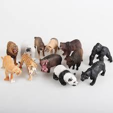 plastic zoo animals toys. Beautiful Plastic 12PCSset Plastic Zoo Animal Figure Panda Tiger Orangutan Sheep Wolf Dogs  Kids Toy Lovely Inside Animals Toys L