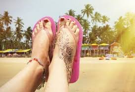 Fotka Henna Tetování Na Nohu 81283828 Fotobanka Fotkyfoto