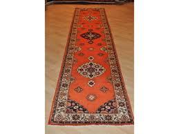 12 ft poppy red handmade persian hall runner