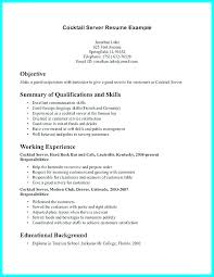 Resume For A Bartender Custom Example Of Bartender Resume We Do And Wed Love To Share The Keys For