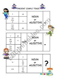 Simple Present Tense Chart N Adj Esl Worksheet By Ece_ozdemir