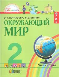 Учебники по окружающему миру Страница  Окружающий мир Учебник 2 класс В 2 х частях Часть 2 Поглазова О Т Шилин В Д