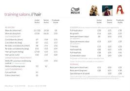 Price List Template Gorgeous Business Plan New Hair Salon Price List Layout Template Sample Doc