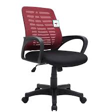 office chair material. Mesh Fabric Padded Swivel Office Chair In Dark Red \u0026 Black MO44 Material N