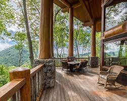 Post And Beam Deck Design Covered Porch On A Log Post And Beam Home I Designed In