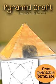 Free Craft Printables Templates Pyramid Craft Printable Template Learncreatelove