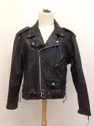 vintage first genuine leather motorcycle biker jacket size 44