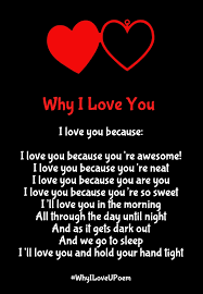 I Love You Because Quotes Stunning Why I Love You Poems with Reasons for Her Him Quotes Square